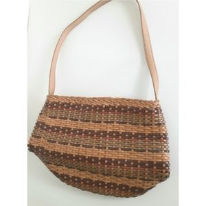 Fossil Woven Leather Multicolor Bag